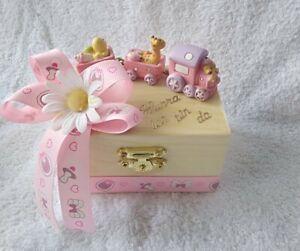 Geschenk-Box zur Geburt/Taufe Baby Mädchen Geldgeschenk Mitbringsel