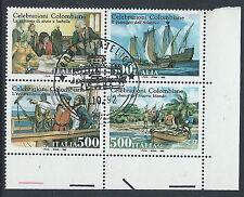 1992 ITALIA USATO BLOCCO COLOMBO - PK-9