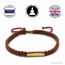Authentic Blessed Buddhist Wristband Handmade Karma Bracelet Lucky Earth Brown