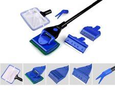 Aquarium Fish Tank Brush Long Handle Cleaning Tool Brush Telescopic 5 in 1 Clean
