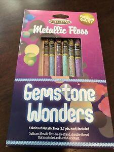 "Sullivans Metallic Embroidery Floss ""Gemstone Wonders"" 6 skeins-8.7 yds each"