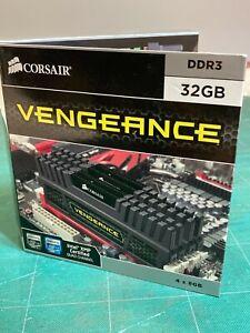 Corsair Vengeance - 32GB (4x 8GB) Dual/Quad PC3-12800 (1600MHz) DDR3 Memory Kit
