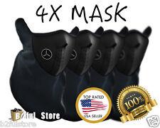 4 Pack Winter Neoprene Half Face Mask With Filter Motorcycle Ski Black Mask USA