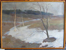 Oil painting March Mykola Koshel Ukraine 1960s