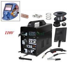 MIG 130 Welder Gas Less Flux Core Wire Automatic Feed Welding Machine Helmet Kit