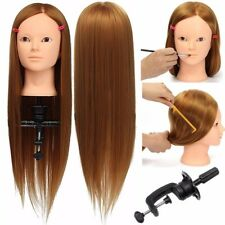 "24"" Salon Hairdressing Hair Training Mannequin Head Model Makeup Practice Head"