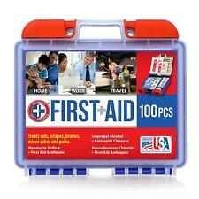 100-Piece First Aid Kit All Purpose Injuries Emergency Outdoor Travel Survival