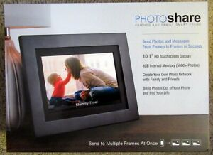 "NEW Simply Smart Home 10.1"" PhotoShare Friends and Family Smart Frame 8GB"