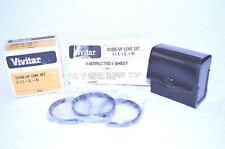 Vivitar 49 mm NEW Close Up Lens Set (+1,+2,+4) w Case Made in Japan (Q-314)