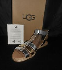 UGG WOMEN'S SILVER GOLD LANETTE SANDAL SIZE 11 NEW IN BOX