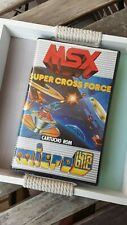RARE WHITE CART MSX Super Cross Force Rom COMPLETE Microbyte