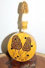 Custom Made Osage Orange Turkey Pot Call with Morel Antler Hickory Rod Striker