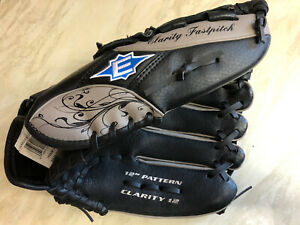 Easton 12 Inch Clarity Fastpitch Baseball Glove RHT leather palm good condition