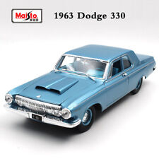 Genuine Collections Dodge 330 1963 Blue 1/18 Scale Diecast Car Model By Maisto