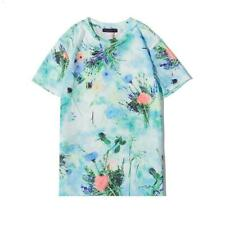 T-shirts for Men New Men's Shirts Top flowers Short Sleeve Asian size #1572