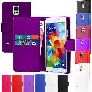 PU Leather Wallet Book Flip Case phone Cover For Various Samsung Galaxy Models