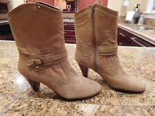 Gorgeous DAVID TATE 'Columbia' Tan Suede Mid-Calf Boots 9M  WORN ONCE!!
