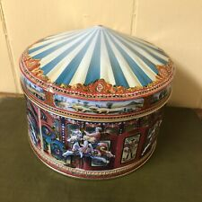 vintage CHURCHILL'S OF LONDON CONFECTIONERY CAROUSEL TIN