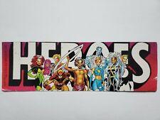 VERY RARE 1990 MARVEL PROMO STICKER DECAL COMIC X-MEN WOLVERINE STORM HEROES