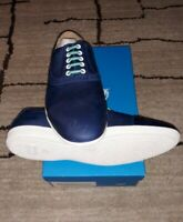 John Fluevog Mens 12 Blue Leather Casual NEW