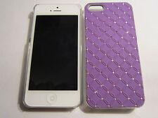 Purple Diamond BLING  iPhone SE 5S 5G 5 Designer Glitter Full Protective Case