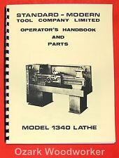 STANDARD Modern 1340 Metal Lathe Operator's & Parts Manual 0706