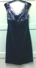 WOMENS STUNNING PARTY/EVENING WEAR  DRESS BLACK/PINK LACE SIZE 8.