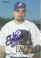 Marc Valdes Montreal Expos 1997 Fleer Signed Card