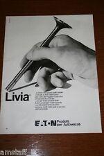 BD18=1972=LIVIA EATON PRODOTTI PER AUTOVEICOLI=PUBBLICITA'=ADVERTISING=WERBUNG=