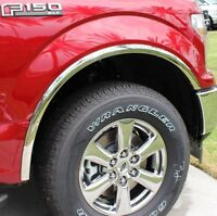 FTFD244  2018-2020 Ford F-150  POLISHED Stainless Fender Trim