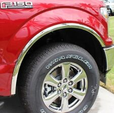 FTFD244  2018 Ford F-150  POLISHED Stainless Fender Trim