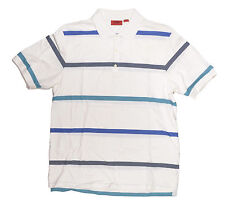 Hugo Boss NONO Mens by Hugo Short Sleeve Polo Shirt XXL White Striped NEW