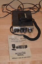Vintage REGENCY 23 Channel CB Radio Model CR-186 W/ Microphone powers on tested