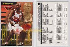 NBA FLEER 1995-1996 SERIES 2 - Mookie Blaylock, Hawks # 391 - Near Mint