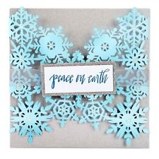 Sizzix Thinlits Cutting Die Stencil Emboss SNOWFLAKE CARD 661547