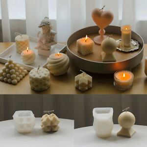 3D Silicone Candle Moulds DIY Soap Aromatherapy Candles Wax Plaster Decoration