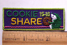 """Girl Scout 2015- 000001C0 2016 Cookie """"Share"""" Sales Patch -Dream Design Do! Hedgehog Badge"""