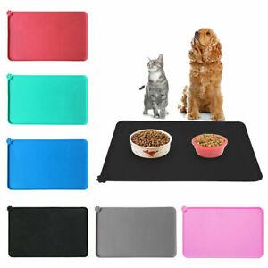 Pet Food Mat Dog Cat Puppy Silicone Feeding Non Slip Waterproof Bowl Placemat UK
