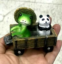 Garden Decor Lawn Ornaments Miniature Animal Figurines Frog & Panda New