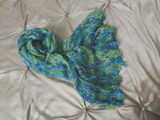 LILLY PULITZER Gauzy Merino Wool Murfee Scarf SHOW ME SOME SKIN Blue Green 74X24