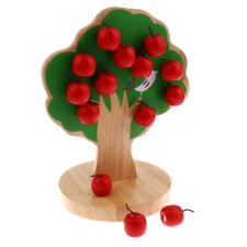Kids Wooden Magnetic Apple Tree Montessori Early Educational Toy Gift