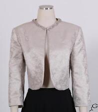 Tahari Cream Sz 14 Women's Cocktail Poly Jacket New