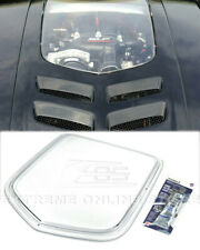 Clear Window Heat Extractor Hood Insert For 10-15 Camaro Polycarbonate Front