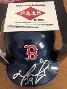 David Ortiz Signed Mini Helmet (COA)