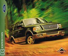 Groß 2003 Ford Expedition Lastwagen Broschüre mit Farbskala: Xlt ,Eddie Bauer