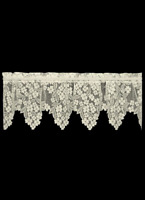 "Heritage Lace ECRU Dogwood Window Valance 55""W x 18""L - Made in USA!"