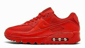 Nike Air Max 90 Red Athletic Shoes for Men for Sale   Authenticity ...
