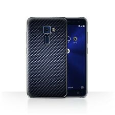 STUFF4 Case/Cover for Asus Zenfone 3 ZE552KL/Carbon Fibre Effect/Pattern/Blue