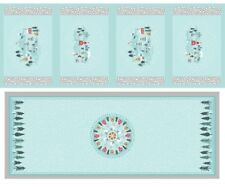 Snow Days Placemat &Table Runner Christmas Panel Silver Lewis&Irene Xmas Fabric