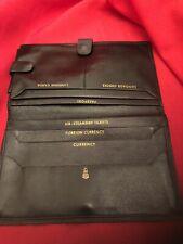 Mark Cross Pristine Leather Passport Wallet